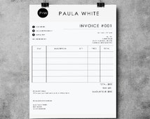 Invoice Template | Receipt | MS Word and Photoshop Template | Invoice Instand Download
