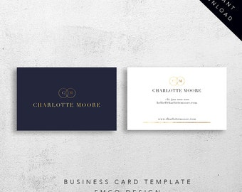 Charlotte business card template | Business stationary | Marketing collateral
