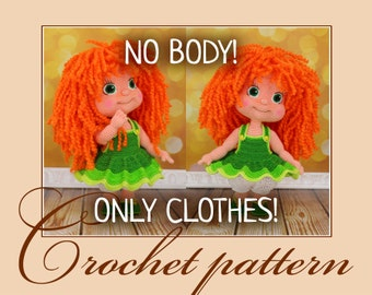 Clothes for the doll Irinka - Crochet Pattern PDF file by Anna Sadovskaya
