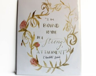 """Jane Eyre Print –""""Strong Attachment""""– Charlotte Bronte Jane Eyre – Watercolor Print"""