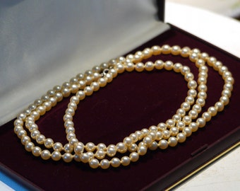 Vintage Long Single Strand of Pearls