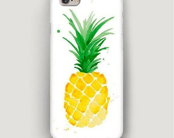 Pineapple iPhone 7 Case, Cool iPhone 6 Case, iPhone 6 Plus Case, iPhone 5s Case, iPhone 5 Case, Cute iPhone 5c Case, iPhone Case Food Print