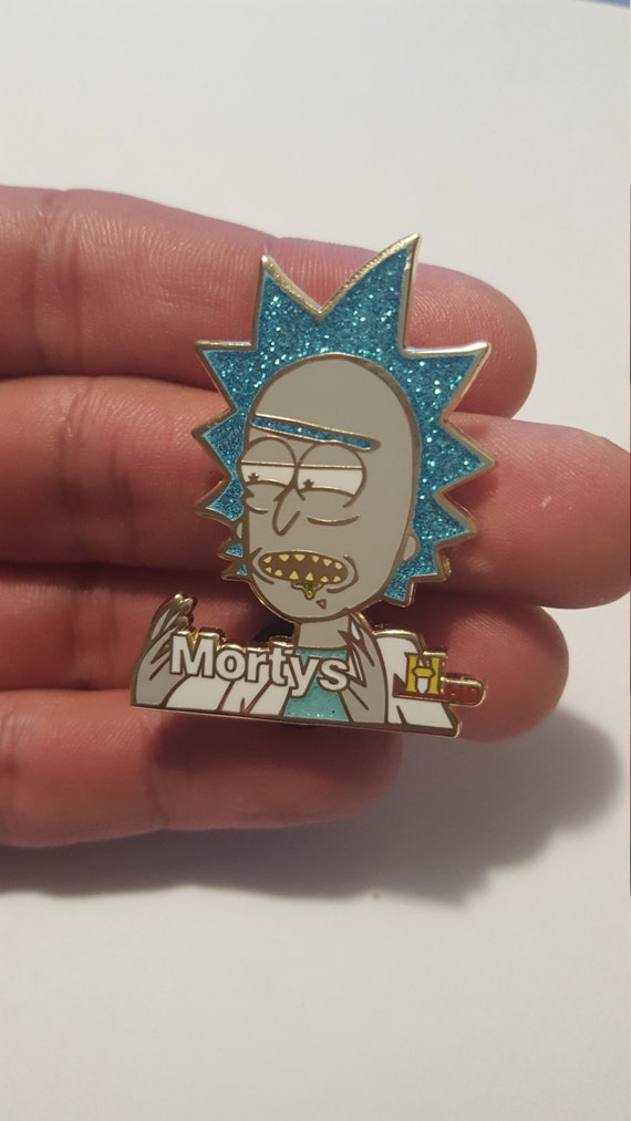 """Rick and Morty """"Ancient Mortys"""" Pin V1 [glitter]"""