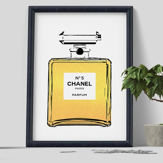 Chanel coco chanel print chanel perfume wall art by for Bedroom gifts for her