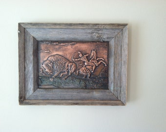 Indian/Buffalo Copper Art