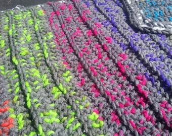 Crochet Toddler Afghan! baby neon blanket ,crib