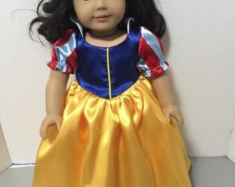 Snow White inspired dress for American Girl Doll