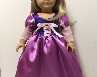 Rapunzel inspired dress for American Girl Doll