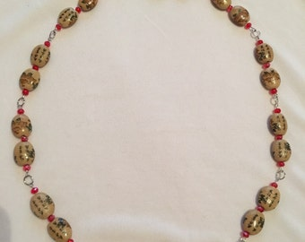 Chinese character beaded necklace