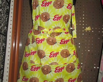 deck one size 100% cotton patterned egg waffle