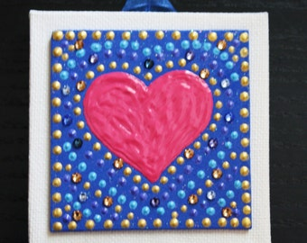 Tiny mosaic-inspired wall plaque