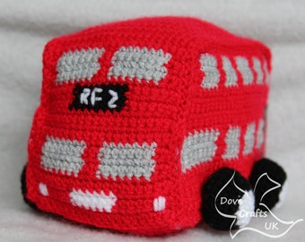Red Toy Double Decker London Bus CROCHET PDF PATTERN