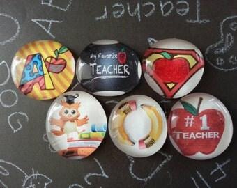 Teacher appreciation magnets set of 6