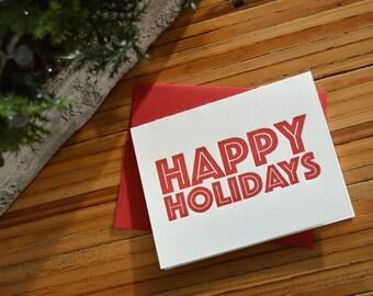 Bold Happy Holidays Greeting Card