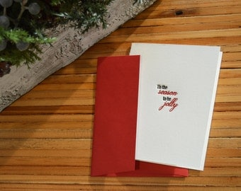 Tis the Season to be Jolly Letterpress Card