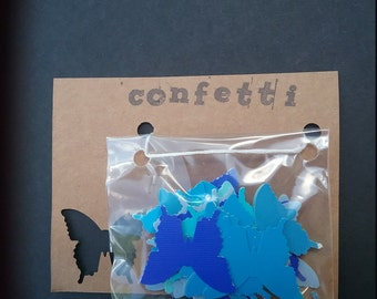 Confetti - Butterflies in mixed blue
