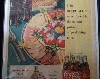Vintage Ad.  Coca Cola.  July, 1950.