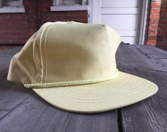 Pastel Yellow Snapback