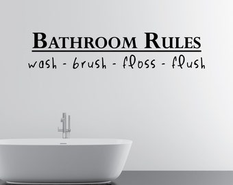 Bathroom Rules Home Wall Decal Sticker VC0001