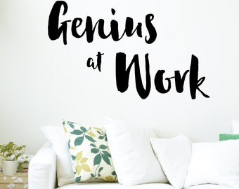 Genius At Work Wall Decal Sticker VC0131