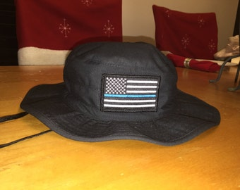 Thin Blue Line Boonie Hat (with subdued patch)