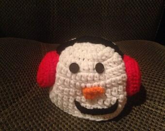 Snowman with ear muffs