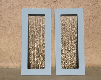 Shabby Chic Distressed Antique Glass Window Frame-Annie Sloan Louis Blue