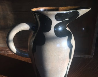 Hand Made Crowell Ceramic Pitcher