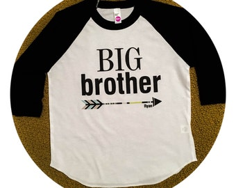 BIg Brother Personalized Baseball Tee