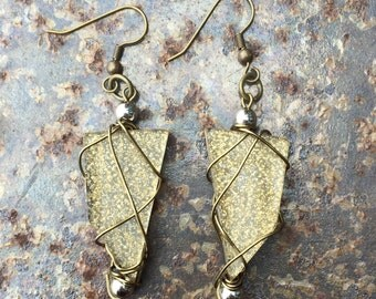 Geometric Dangle Earrings (Gold)