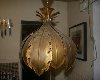 Holm Sorenson 6395 torch cut brass lamp