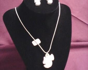 Angels pendant and earrings (set)