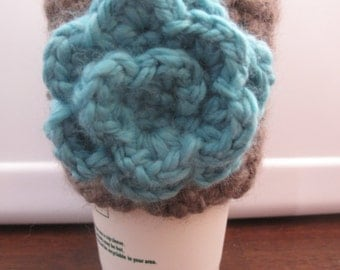 To Go Cup Cozy w/ Flower
