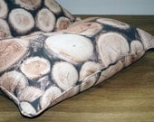 Big adult and children beanbag with stacked logs pattern