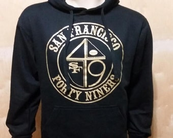 FREE SHIPPING / Forty Niners Hoodie / 49ERS