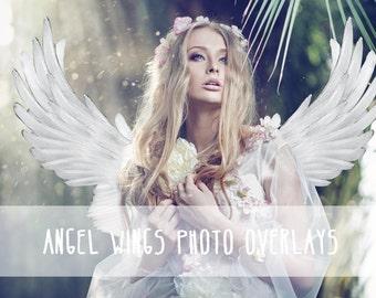 45 Wings photo overlays, Kids photo overlays, Wedding photo overlays