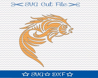 Koi Fish SVG File / SVG Cutting File for Silhouette / Japanese Fish SVG / Animal svg / Pretty Fish svg / Chinese Fish svg