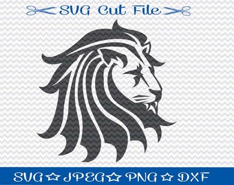 Lion SVG File - SVG Cut File for Silhouette - King of the Jungle - Animal Svg - Svg Cutting File