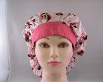 Women's Bouffant Scrub Hat Minnie Mouse