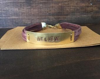 Bracelet brass tag
