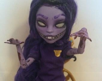 OOAK Custom Monster High Doll FNAF Five Nights At Freddie's Purple Guy Purple Girl Jane Boolittle Repaint