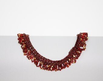 Red and Gold Firework Necklace