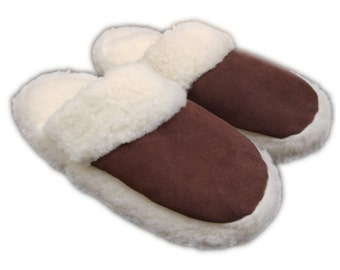 Mule slippers with a natural sheep wool lining Women's Ladies Size UK 6.5