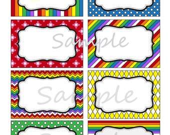 Rainbow Labels - Rainbow Tags- Rainbow Party- Rainbow Candy Buffet- Rainbow Gift Tags- INSTANTLY DOWNLOADABLE- Edit at home NOW!!