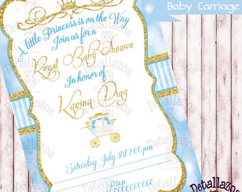 Invitation baby carriage