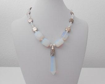 sea opal necklace