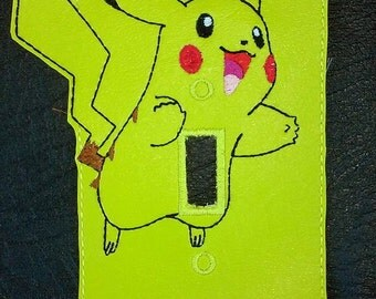 Yellow fox Light Switch Plate Cover Pokemon Pikachu Inspired