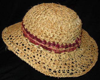 Lady Di Raffia Hat
