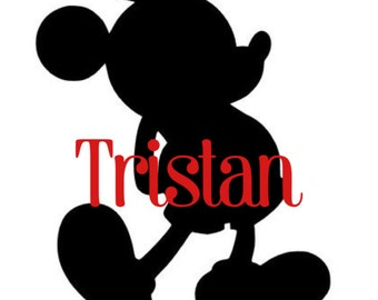 Personalized Mickey Mouse Adhesive Sticker