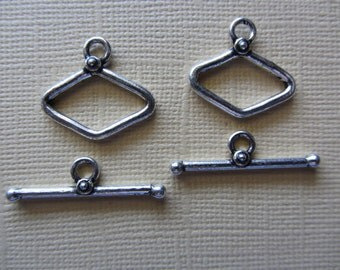 Silver Toggles set of 2